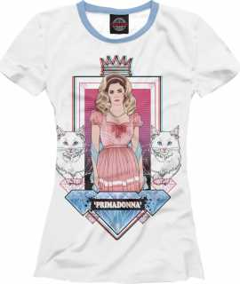 Купить Marina and the diamonds - Primadonna, Printbar, Футболки, MZK-612846-fut-1