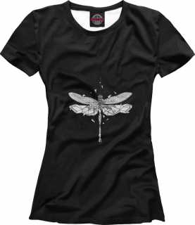 Купить Geometric dark dragonfly, Printbar, Футболки, HIP-238180-fut-1