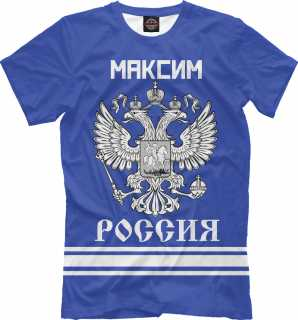 Купить МАКСИМ sport russia collection, Printbar, Футболки, MAX-671716-fut-2