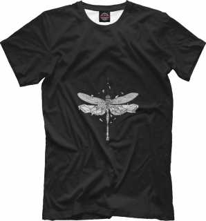 Купить Geometric dark dragonfly, Printbar, Футболки, HIP-238180-fut-2