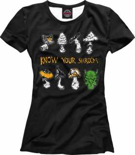 Купить Warhammer Know Your Shroom - Gobbo Edition, Printbar, Футболки, WHR-525416-fut-1