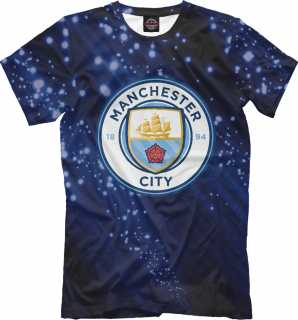 Купить FC Manchester City Abstract, Printbar, Футболки, MNC-139119-fut-2