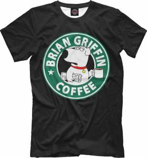 Купить Brian Griffin Coffee, Printbar, Футболки, FAM-971511-fut-2